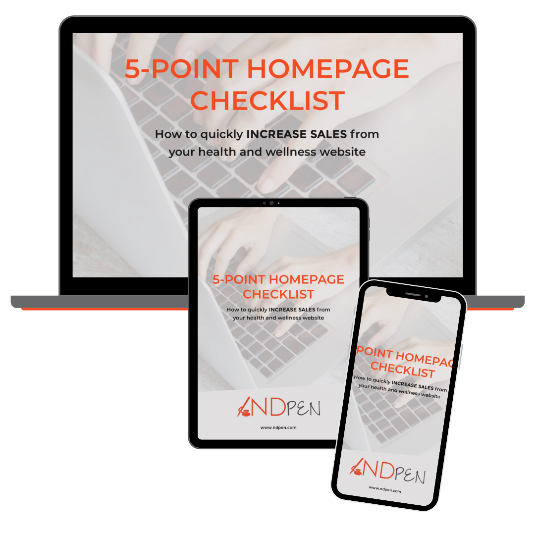 link to 5-Point Homepage Checklist